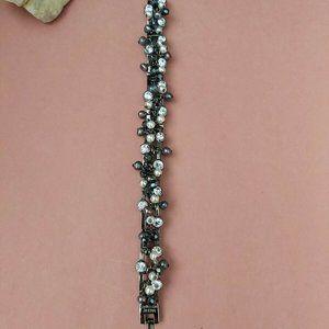 Signed Dyberg Kern pearls crystals bracelet